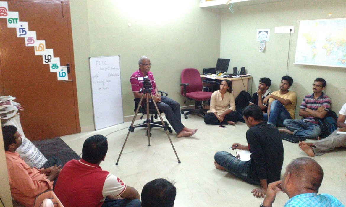 FITE members' interaction with Trade Unionists in Chennai