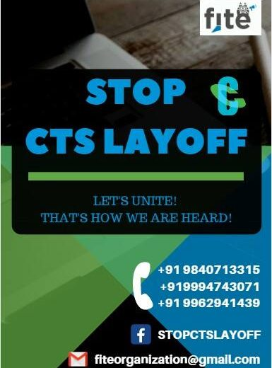 Stop CTS Layoff , Pamphlet Campaign – Coimbatore