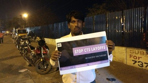 Stop CTS Layoff , Pamphlet Campaign – Chennai – F I T E