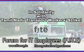 Tamil Nadu Transport Workers' Strike – Solidarity Statement from Forum for IT Employees (F.I.T.E)