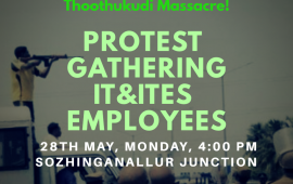 Let Us Raise Against Thoothukudi Massacre! Let Us Gather At Sozhinganallur!